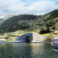 Noruega quiere perforar una montaña para crear el primer túnel del mundo para barcos