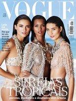 Siguen las melenas efecto mojado, ahora en la portada de Vogue Brasil