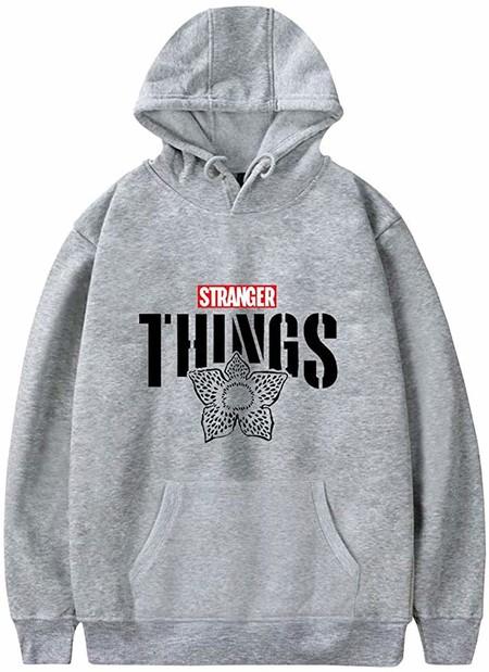 PANOZON Stranger Things Sudadera Unisex con Capucha Chaqueta para Hombre Impresión de Logo Imágen Estilo Casual