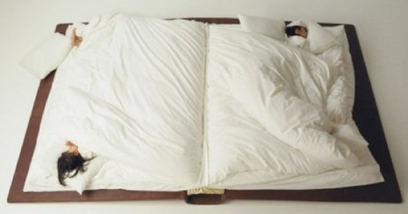 Una cama con forma de libro