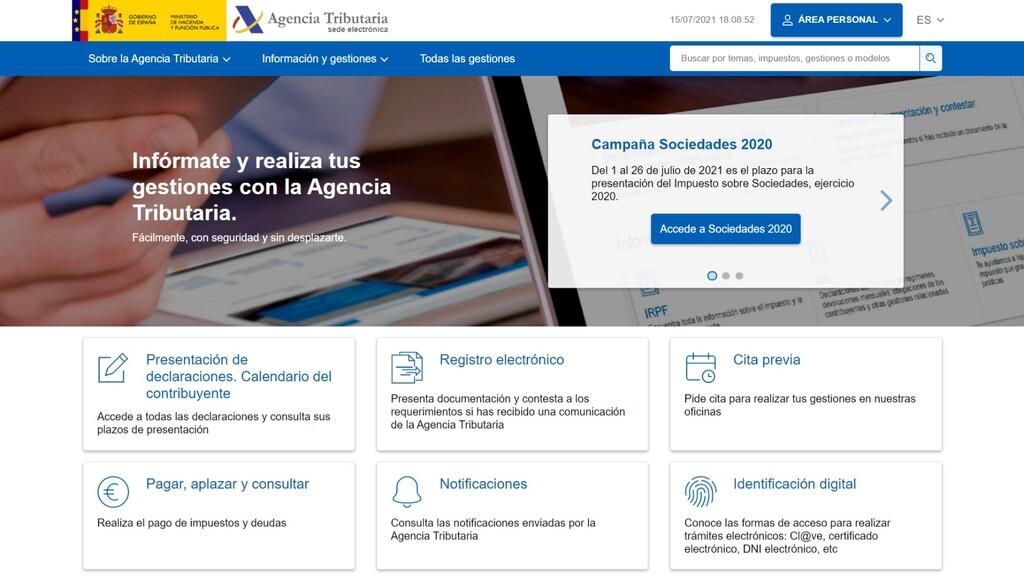 La Agencia Tributaria estrena web unificando información y mejorando (parcial y superficialmente) su diseño