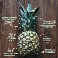 La piña y sus propiedades. Infografía