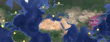 Este mapa interactivo de Google Maps muestra los casos de virus Wuhan que hay en el mundo