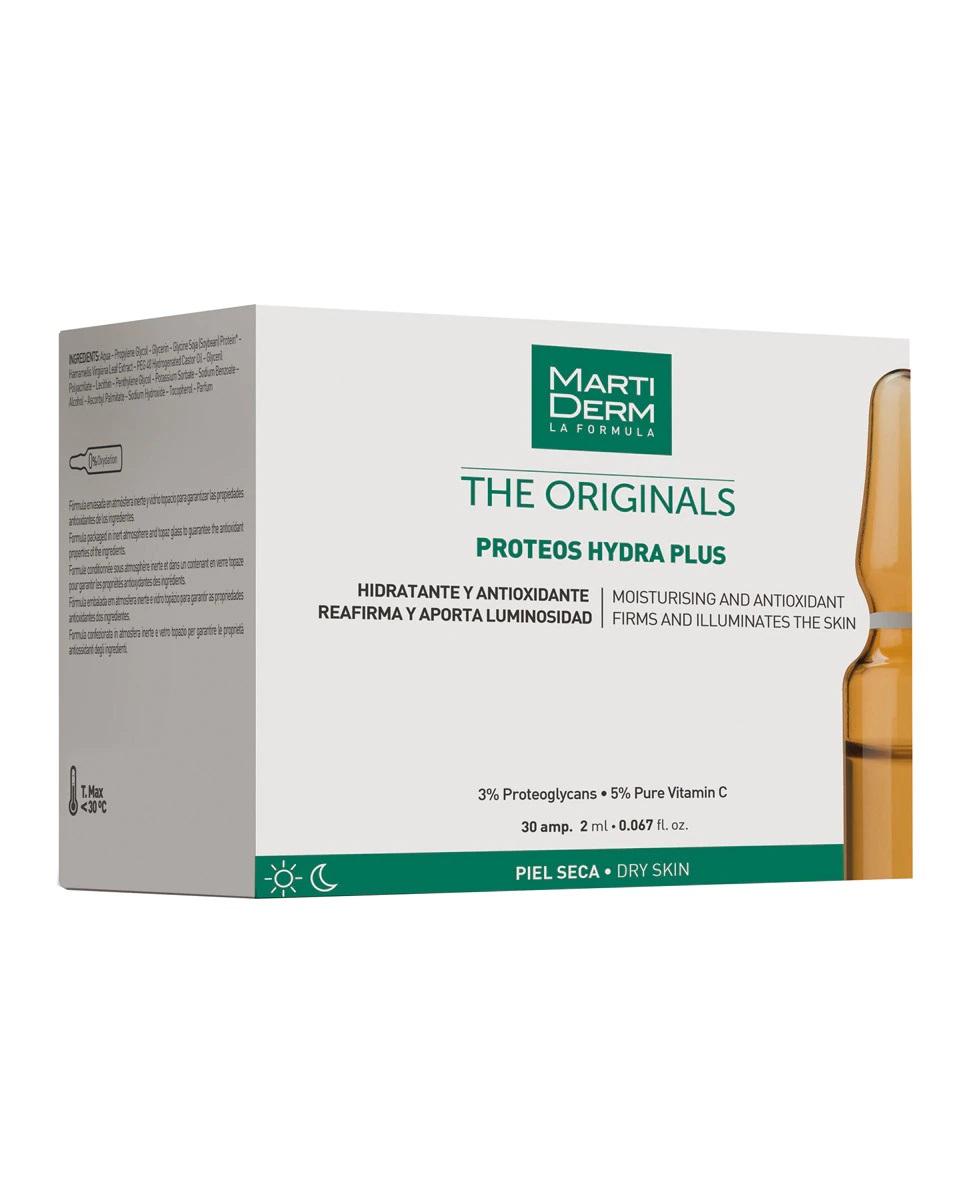 Pack mensual de ampollas hidratantes para piel seca Proteos Hydra Plus de Martiderm