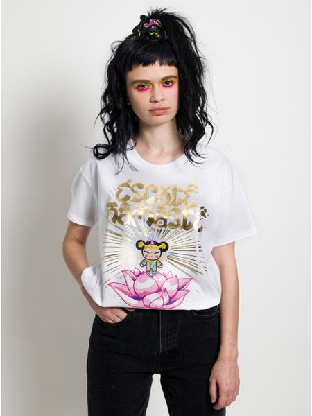 Namaste White T Shirt maria escote pucca