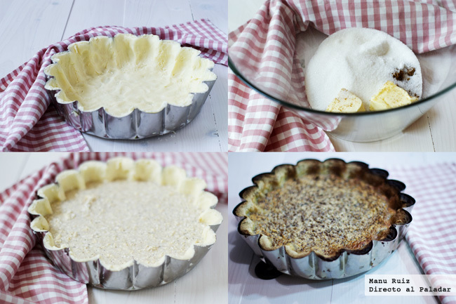 Yorkshire curd tart paso a paso