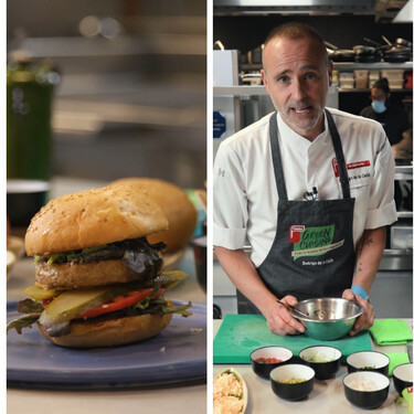 Rodrigo de la Calle nos enseña tres recetas con proteínas vegetales desde su restaurante El Invernadero