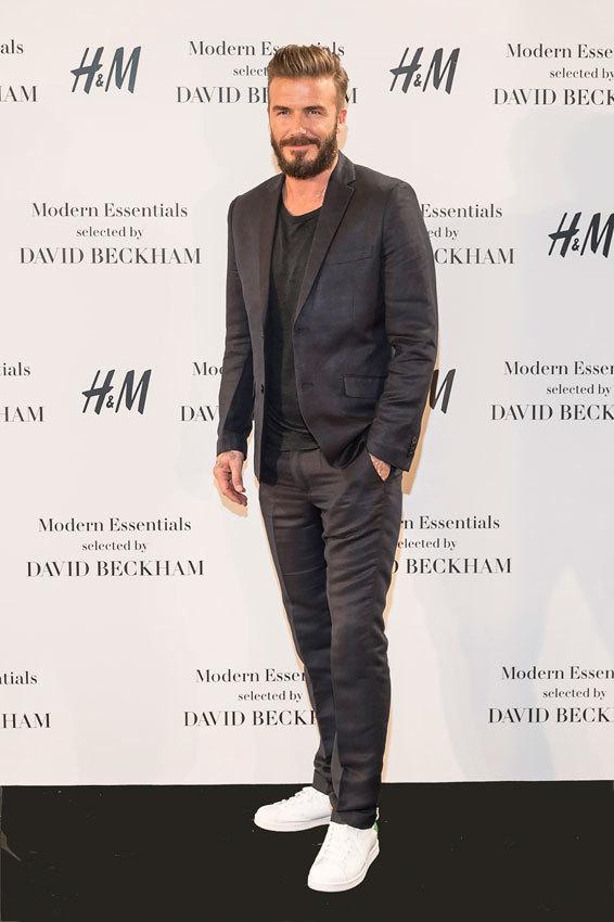 David Beckham, durante la presentación de H&M