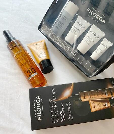 Este año los packs de viaje de cuidado de la piel y protección solar de Filorga se vienen con nosotras de vacaciones