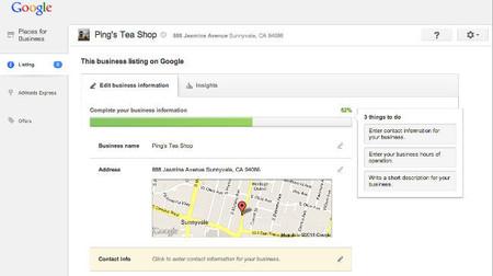 Google Places para los negocios se rediseña para ser más sencillo