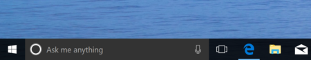 Cortana Taskbar Color