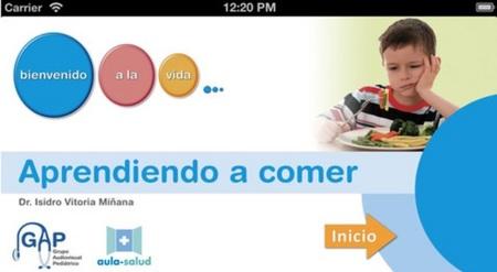 Aprendiendo a comer, app sobre nutrición infantil
