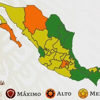 México se pinta de amarillo en el semáforo por COVID y un cuarto del país ya está en color verde