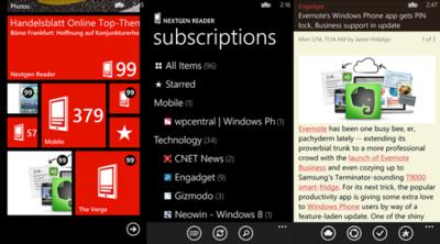 Nextgen Reader en la versión de Windows Phone 7, ahora soporta Feedly