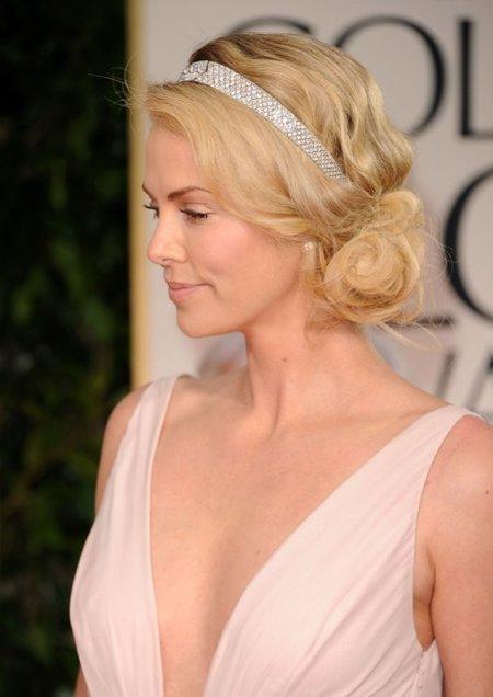 Charlize Globos de Oro 2012