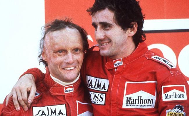 Niki Lauda Alain Prost 1984