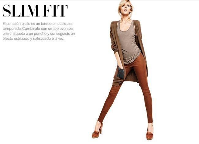 pantañon slim H&M