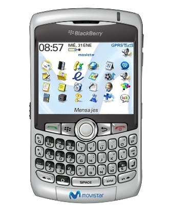 La BlackBerry Curve con Movistar en junio