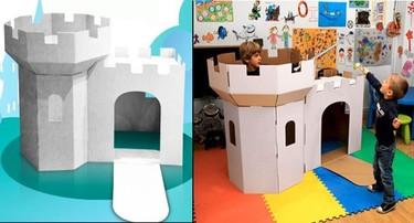 Regalos de Navidad: un castillo de cartón para decorar