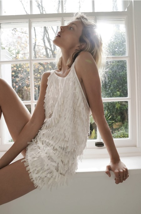 Zara Vestido Flecos 01
