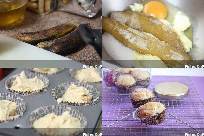 Muffins de plátano. Pasos