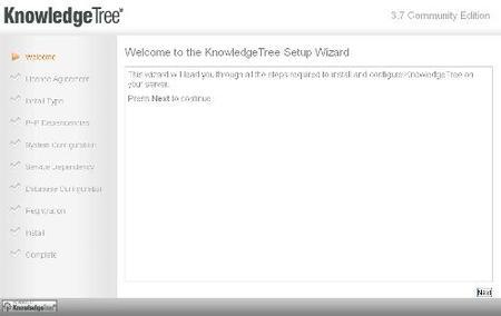 Instalación Knowledge Tree