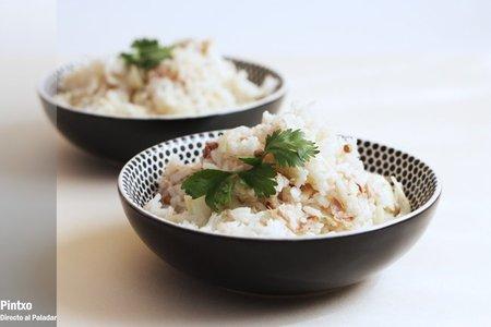 Ensalada de arroz basmati con hinojo y atún en escabeche. Receta