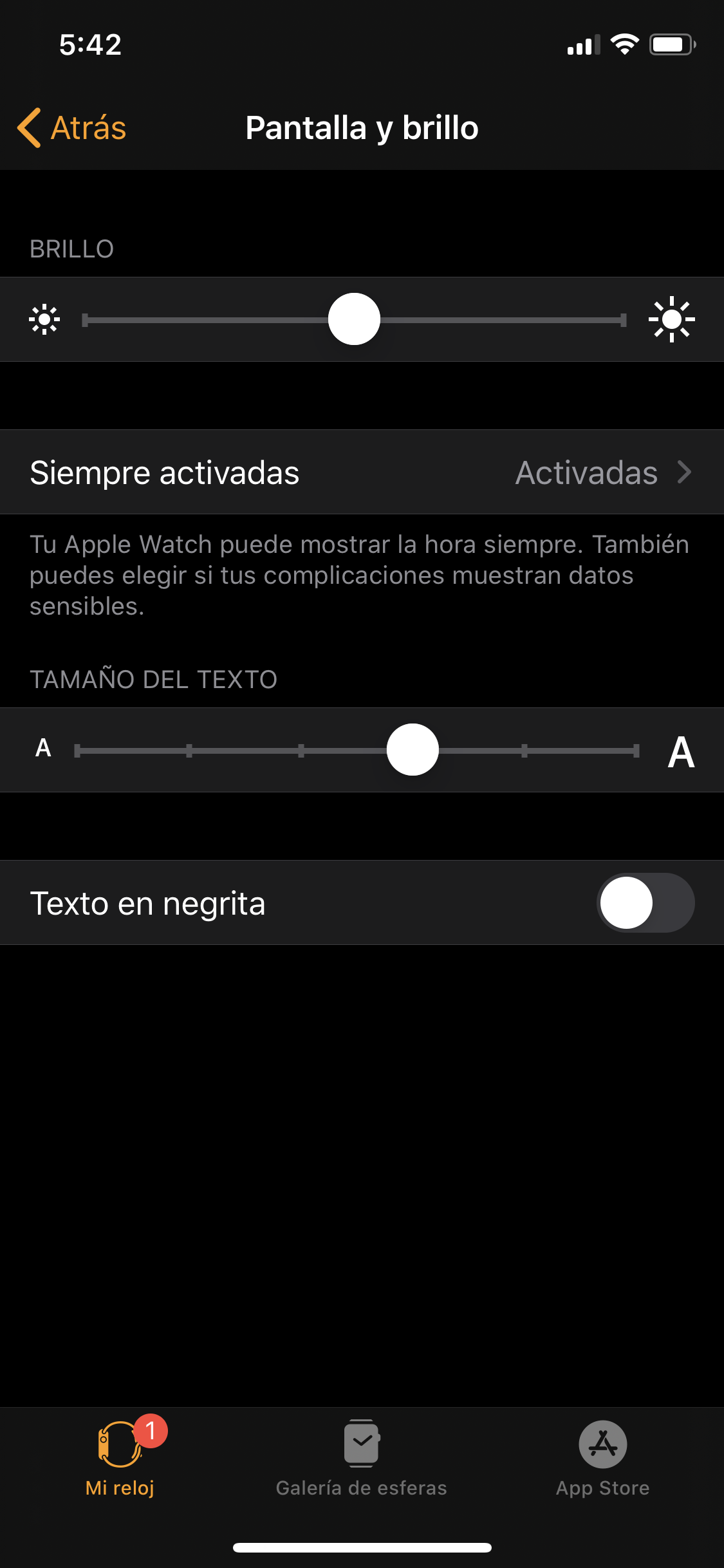 Apple watch Series 5 opciones