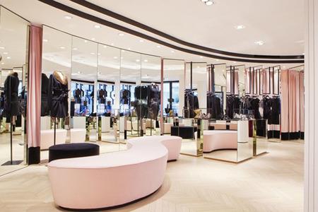 Decoracion espejos boutique Alexis Mabille