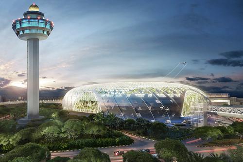 El diseño del aeropuerto de Singapur parece no tener límites: Jewel tendrá una cascada y una selva