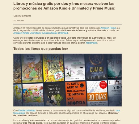 Window Y Libros Y Musica Gratis Por Dos Y Tres Meses Vuelven Las Promociones De Amazon Kindle Unlimited Y Prime Music Reader View