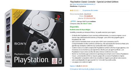 Amazon Mexico Playstation Classic Rebaja Precio