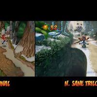 Crash Bandicoot N. Sane Trilogy y el original Crash 2 cara a cara en un vídeo comparativo de uno de sus niveles