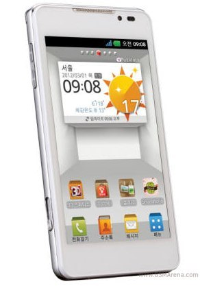 LG Optimus 3D 2 se muestra en un render con pantalla IPS HD