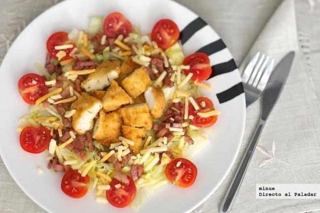 Ensalada de pollo y bacon - presentación