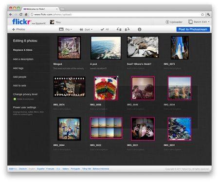flickr upload view