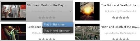 Banshee extensión para Youtube