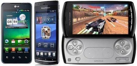 Precios LG Optimus 2X, Sony Ericsson XPERIA Arc y XPERIA Play con Vodafone