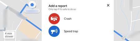 Google Maps ya permite a los usuarios avisar de la presencia de accidentes y radares de velocidad