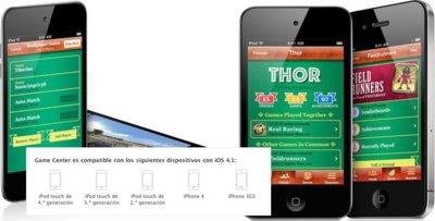 Apple confirma que Game Center no será compatible con el iPhone 3G