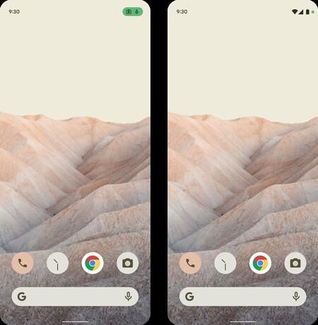 Android 12 Filtracion Temas Colores Sistema Notificaciones Privacidad Uso Microfono Camara