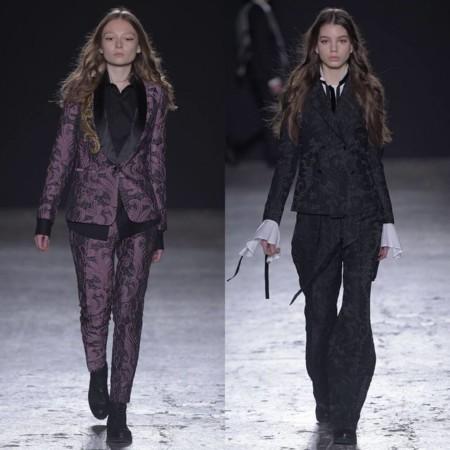 Tendencia Mujeres Traje Milan Fashion Week 2016 2