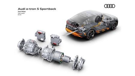 Audi E-Tron S esquema motores traseros