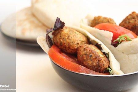 Receta de pita con falafel