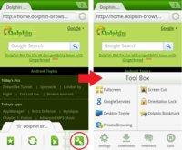 Dolphin Browser Mini, navegación web avanzada para usuarios de Android 1.6 Donut
