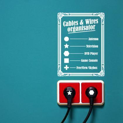 Pegatina para organizar cables