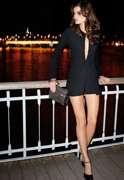 isabeli fontana mango vestido negro