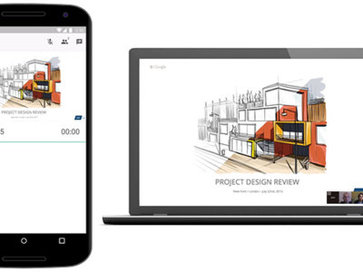 Presentaciones de Google para Android ahora te permite emitir por Hangouts