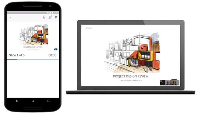 Google Presentaciones Hangout