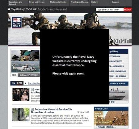 """La web de la Royal Navy atacada durante la celebración del """"éxito"""" de la ciberdefensa europea"""